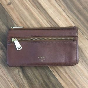 FOSSIL WALLET 🌞 beautiful brown leather!